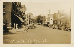 Real Photo Clinton Main Street N.J. - Etats-Unis