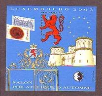 FRANCE BLOC CNEP N° 39 ** SALON D'AUTOMNE 2003 LUXEMBOURG  - LION - CHATEAU - CNEP