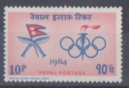Nepal JO De Tokyo De 1964 MI N° 187 MNH ** Année 1964 - Summer 1964: Tokyo