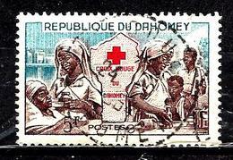 DAHOMEY  175° 5f Bleu, Violet-brun Et Rouge Croix-rouge Nationale (10% De La Cote + 0,15) - Bénin – Dahomey (1960-...)