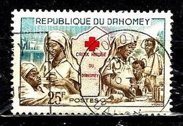 DAHOMEY  177° 25f Bleu, Brun Et Rouge Croix-rouge Nationale (10% De La Cote + 0,15) - Bénin – Dahomey (1960-...)