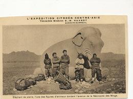 Stone Elephant Necropole Des Mings Expedition Citroen Haardt - Chine