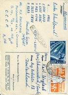 43074 Russia, Circuled Card 1961 With Stamp 4k 1961 Dog Hund ,Tschernuschka - Hunde
