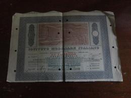 ISTITUTO MOBILIARE ITALIANO-XV EMISSIONE CREDITO NAVALE-VENTICINQUE OBBLIGAZIONI  DA LIRE MILLE CIASCUNA-1951 - Navigazione