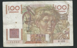 "FRANCE -  100 Francs ""Jeune Paysan"" Du 29/06/1950  - 70392 H.358  - Laura4302 - 1871-1952 Antichi Franchi Circolanti Nel XX Secolo"