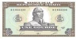 Une Gourde  Banknote Haiti 1987 - Haïti