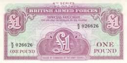 One Pound Britisch Armed Forces Banknote Großbritanien - Militärausgaben