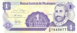 Un Centavo  Banknote Nicaragua - Nicaragua