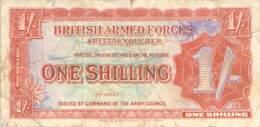 One Shilling Britisch Armed Forces Banknote Großbritanien - Emissions Militaires