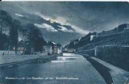 Namur - La Sambre Et Les Fortifications - Vue De Nuit Pleine Lune - Circulé - Dos Non Séparé - BE Voir Scans - Namur