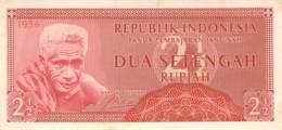 2 1/2 Rupia Banknote Indonesien 1956 - Indonésie
