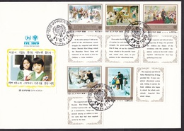 North Korea DPRK: FDC First Day Cover, 1979, Year Of Child, Children, Propaganda Kim Il Sung (traces Of Use) - Korea (Noord)