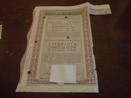 ISTITUTO MOBILIARE ITALIANO-CINQUANTA  OBBLIGAZIONI DA LIRE MILLE CIASCUNA-1967 - Banca & Assicurazione