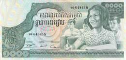 1000 Mille Riels Banknote Kambodscha - Cambodge