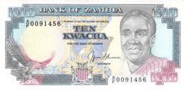 Ten Kwacha Banknote Bank Of Zambia - Zambie