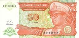 50 Cinquante Nouveaux Makuta Banknote Zaire - Zaire
