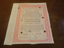 ISTITUTO MOBILIARE ITALIANO-CINQECENTO  OBBLIGAZIONI DA LIRE MILLE CIASCUNA-1970 - Banca & Assicurazione
