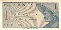 Satu Sen Banknote Indonesien 1964 - Indonésie