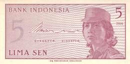 Lima Sen Banknote Indonesien 1964 - Indonesien