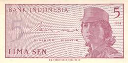 Lima Sen Banknote Indonesien 1964 - Indonésie
