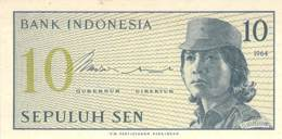 Sepuluh Sen Banknote Indonesien 1964 - Indonésie