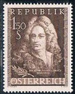 Timbres Neufs** D'autriche, N°861 Yt,bicentenaire De Johann Bernhard Fischer Von Erlach, Architecte - 1945-60 Neufs