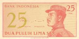Dua Puluh Lima Sen Banknote Indonesien 1964 - Indonésie