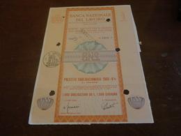 OBBLIGAZIONE BANCA NAZIONALE DEL LAVORO 1 MILIONE -1969 - Banca & Assicurazione