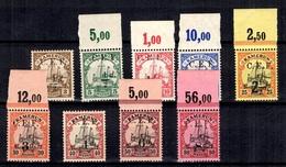 Cameroun Colonie Allemande Occupation Anglaise Maury N° 1/9 Neufs **/*. B/TB. A Saisir! - Colonie: Cameroun