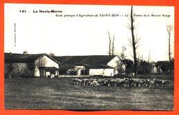 """CPA 52 Ecole D'agriculture De Saint Bon """" La Ferme De La Maison Rouge """" Cliché Pourtoy N°141 - Sonstige Gemeinden"""
