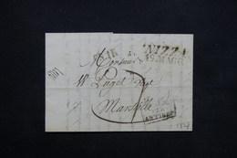 FRANCE - Lettre De Nice ( Occupation Italienne ) Pour Marseille En 1827 , Marque D'entrée Par Antibes - L 23673 - 1801-1848: Precursors XIX