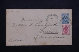 RUSSIE - Entier Postal + Complément De Kalich En 1900 Pour Dresden - L 23674 - 1857-1916 Empire