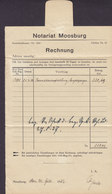 Germany Deutsches Reich NOTARIAT MOOSBURG Rechnung MOOSBURG 1937 Cover Brief (2 Scans) - Allemagne