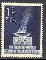 Timbres Neufs** D'autriche, N°696 Yt, Jeux Olympiques De Londres En 1948, Flamme Olympique - 1945-60 Neufs