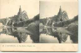 DEP 43 LE PUY EN VELAY CARTE STEREOSCOPIQUE DU ROCHER D'ESPALY - Le Puy En Velay