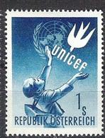 Timbres Neufs** D'autriche, N°777 Yt, Unicef, Enfant, Logo, Colombe Stylisée - 1945-60 Neufs