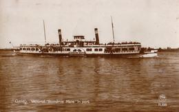 "GALATI : BATEAU / SHIP "" ROMÂNIA MARE "" Sur / On DANUBE - CARTE VRAIE PHOTO / REAL PHOTO POSTCARD ~ 1930 (aa581) - Roemenië"