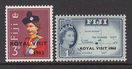 1963 Fiji  Royal Visit Complete Set Of 2 MNH - Fidji (1970-...)