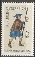 Timbres Neufs** D'autriche, N°1064 Yt, Journée Du Timbre 1966, Facteur - 1945-.... 2ème République
