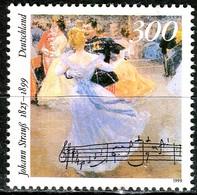 BRD - Mi 2061 - ** Postfrisch (C) - 300Pf             Johann Strauß (Sohn) - Unused Stamps