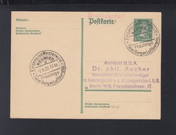 Dt. Reich GSK 1928 Sonderstempel Neuwied - Allemagne