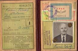 Hongrie, Carte De Voyage Ferroviaire, Timbres, 1964     (bon Etat) - Cartes