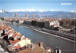 GRENOBLE Quais De L Isere Chaine De Belledonne Telepherique De La Bastille 17(scan Recto-verso) MA1149 - Grenoble