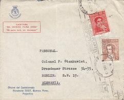 Argentina Ejecito De Salvacion Salvation Army Heilsarmee Cachet BUENOS AIRES 1936 TMS Cds. Cover Brief BERLIN Germany - Argentinien