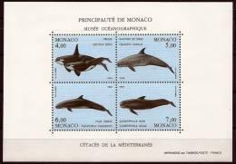 "Monaco Bloc YT 64 "" Cétacés De La Méditerranée (III) "" 1994 Neuf** - Blokken"