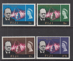 1966 Fiji  Churchill Omnibus  Complete Set Of 4 MNH - Fidji (1970-...)