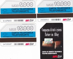 """SCHEDE TELEFONICHE """"COMPAGNA DI TUTTI I GIORNI"""" DITTA TECHNICARD/SYSTEM SCADENZA 31/12/1995 ALTO ADIGE USATE - Italie"""