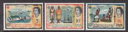 1966 Fiji HMS Pandora Rotuma Ship Map Costumes   Complete Set Of 3 MNH - Fidji (1970-...)