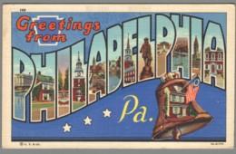 CPSM USA - Pennsylvania - Greetings From Philadelphia - Philadelphia
