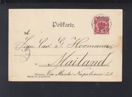 Dt. Reich AK Leipzig 1898 Nach Italien - Briefe U. Dokumente